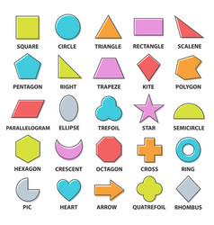 basic shapes set vector image