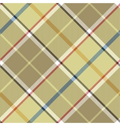 Beige plaid diagonal fabric texture seamless vector image