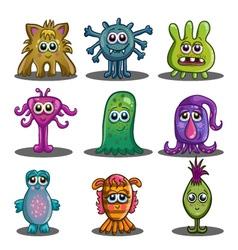 Big set of cute cartoon monsters vector image