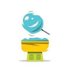 Candy floss cartoon vector