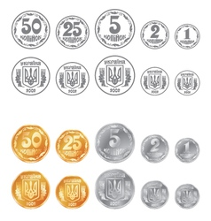 Coins ukrainian vector image vector image