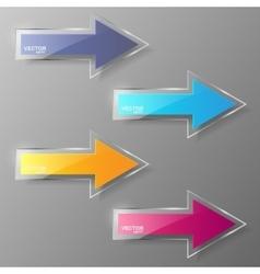 Glass arrows set vector image vector image