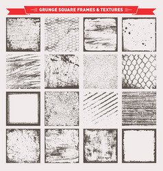 grunge square frames backgrounds textures vector image vector image