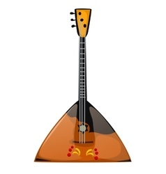 Musical instrument balalaika on a white background vector image