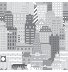 Pixel art city seamless pattern vector image vector image