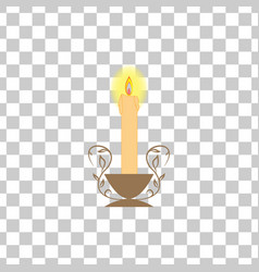 candle light on square vector image vector image
