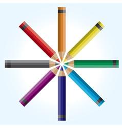 Colorwheel pencils vector