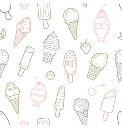 cute pastel ice cream seamless pattern vector image