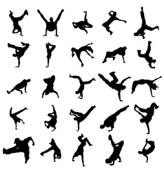 Dancing silhouettes set vector image