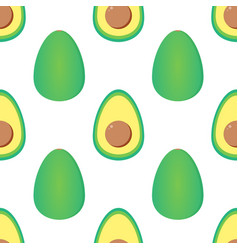green avocados seamless pattern background vector image