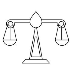 justice scale law symbol thin line vector image vector image