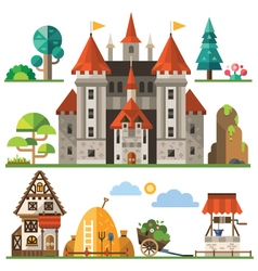 Medieval kingdom element vector image