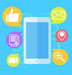 mobile marketing banner phone with icon mail vector image vector image