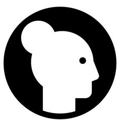 Woman profile icon vector image