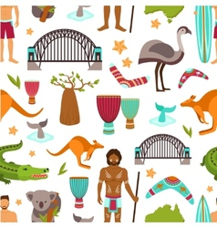 Australia seamless pattern vector