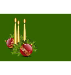 candles and balls vector image vector image