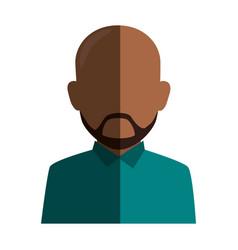 colorful silhouette faceless half body brunette vector image