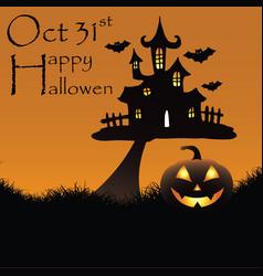 happy hallowen background vector image