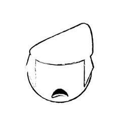 head boy male outline vector image