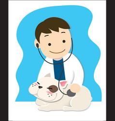 pet doctor vector image