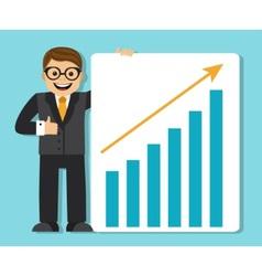 successful businessman making a presentation vector image vector image