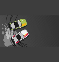top view of a drifting car vector image vector image