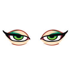 A sharp green eyes or color vector