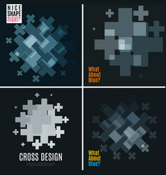 Abstract design elements with cross vector