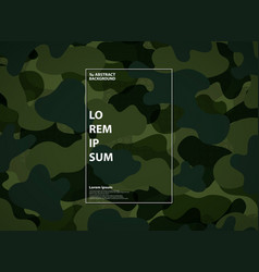 abstract military green shape pattern background vector image