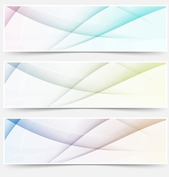 Abstract swoosh line header web footer set vector