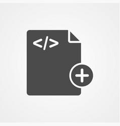 add file icon sign symbol vector image