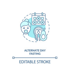 Alternate day fasting blue concept icon vector