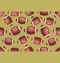 american football ball seamless pattern vector image