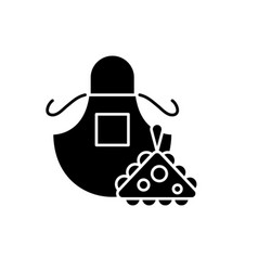 apron black icon sign on isolated vector image