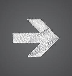 arrow sketch logo doodle icon vector image