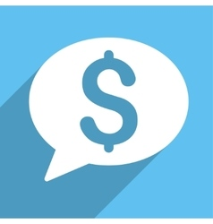 Bank Message Long Shadow Square Icon vector