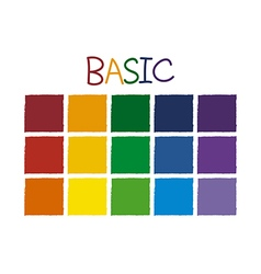 Basic Color Tone without Code vector image