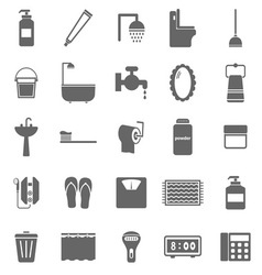 Bathroom icons on white background vector