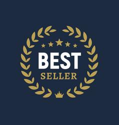best seller ceremony award laurel winner vector image