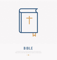 bible thin line icon modern vector image