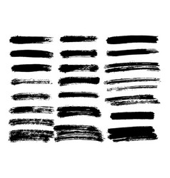 black paint ink brush stroke brush line or vector image