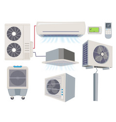 blow filter air conditioner ventilation systems vector image