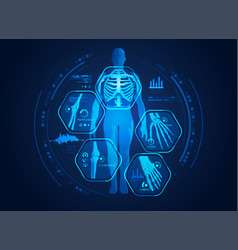 body scan vector image
