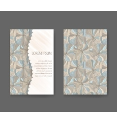 Boho style template for cards invitations vector