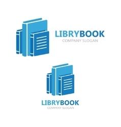 Books logo design template vector image