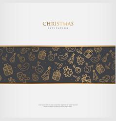 christmas invitation design vector image