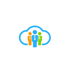 Cloud job logo icon design vector