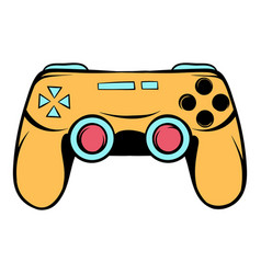 Console joystick icon cartoon vector