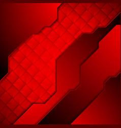 Dark red abstract technology background vector