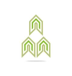 Design element arrow icon symbol abstract vector